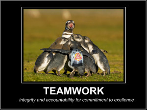 Teamwork poster by eriksala
