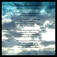 Letter from Heaven for Loss of Loved One Religous Wood Finish Plaque ...