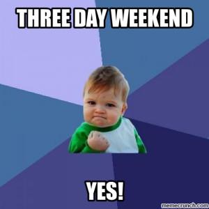 Three Day Weekend May 27 13:18 UTC 2012