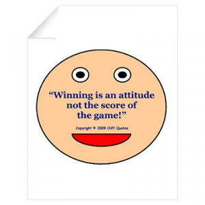 ... > Wall Art > Wall Decals > Cliff Quote Winning Attitude Wall Decal