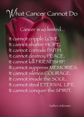 what cancer cannot do - Google Search PRAISE THE LORD!!!!
