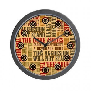 Abide Gifts > Abide Living Room > Big Lebowski Dude Quotes Wall Clock
