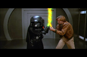 Dark Helmet: You have the ring, and I see your Schwartz is as big ...