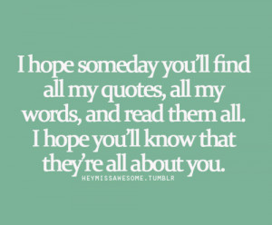 ... chances are slim that you re reading this but i love you thenoteboook