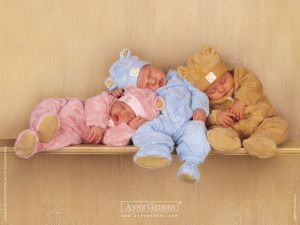 Cute Sleeping Babies