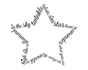 Custom quote star shape vinyl wall decal custom name star shape vinyl ...