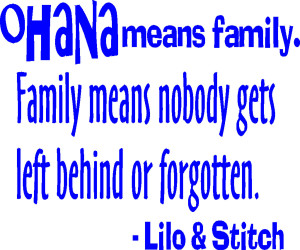 Lilo And Stitch Quotes Ohana Means Family