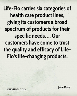 ... trust the quality and efficacy of Life-Flo's life-changing products