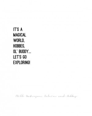 CALVIN AND HOBBES // quote poster // Select a Size // black & white ...
