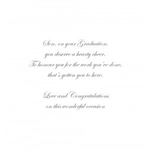 Son On Your Graduation Congratulations Greeting Card Thumbnail 2