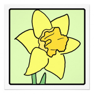 Clip Art Daffodil Spring Garden Flower Invitation