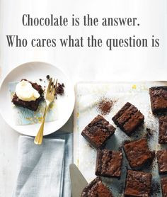 Extreme brownies - wise words #food #chocolate #brownies #dessert http ...
