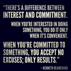 Kenneth Blanchard #quotes #commitment