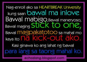Nag-enroll ako sa heartbreak university kung saan bawal ma inlove