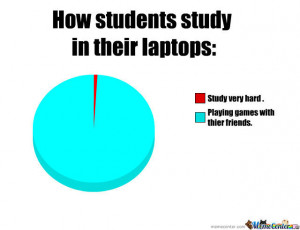 Funny Studying Pictures Students How students study in their