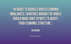 In order to address world economic imbalances, countries around the ...