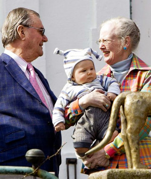 Prince Henrik, the Prince Consort; and Queen Margrethe II of Denmark ...