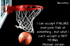 Famous Basketball Quotes : Never Give Up