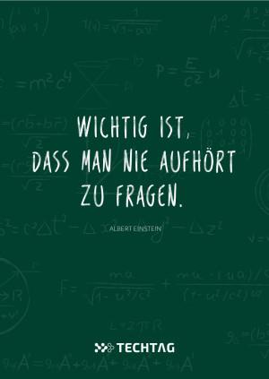 Albert Einstein | Wichtig ist, dass man nicht aufhört zu fragen.