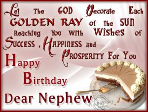 Funny happy birthday to my nephew wishes