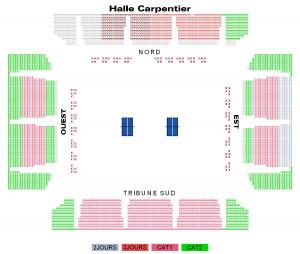 Plan Halle George Carpentier coupe du monde de tennis de table