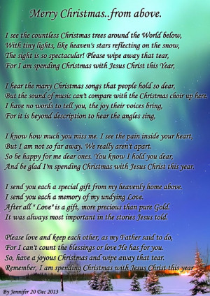 merry christmas in heaven poems