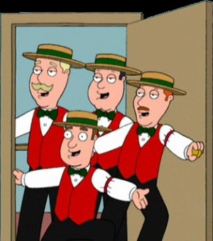 The Barbershop Quartet is a group of four men singing close harmony ...