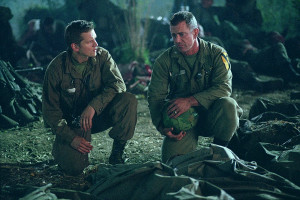 Barry Pepper and Mel Gibson in Paramount's We Were Soldiers – 2002