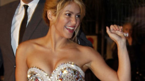 Colombian singer Shakira waves as she arrives at the Cannes festival ...