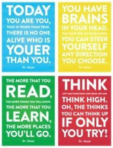 ... Dr Seuss Quotes Decor For Kids, Dr Suess Quotes Printables, Education