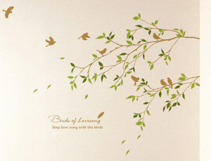 Birds Of Lovesong Sing Love Song With the Birds Wall Sticker