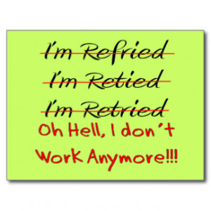 Funny Retirement Post Cards, Funny Retirement Postcard Templates