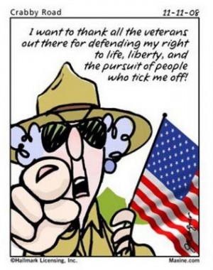 Maxine+Cartoons+to+Print   Photo: Thank Veterans Cartoon   Maxine Anti ...