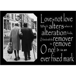 Love is not love which alters when alteration finds, or bends with the ...