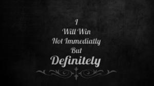 will win quote