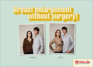 Breast Enlargement Funny Advertisement