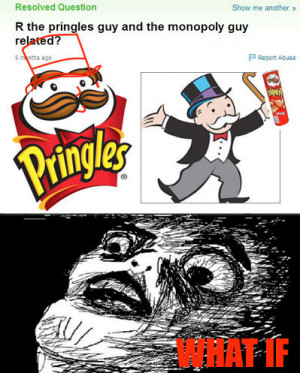 funny Pringles Monopoly guy look alike
