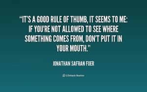 Jonathan Safran Foer Quotes