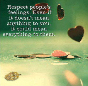 Respect people's