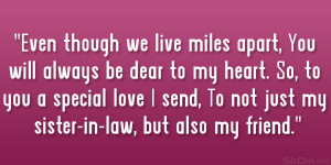 Love Sister In Law Quotes
