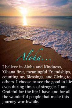 Aloha! More