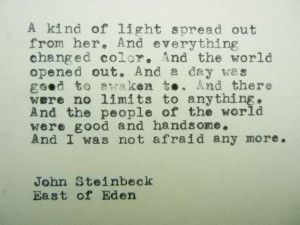 JOHN STEINBECK East of Eden Quote Made on by PoetryBoutique, $9.00