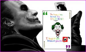 The Joker by Shawn Van Briesen [ via ] ; Quote by abbracadabbling