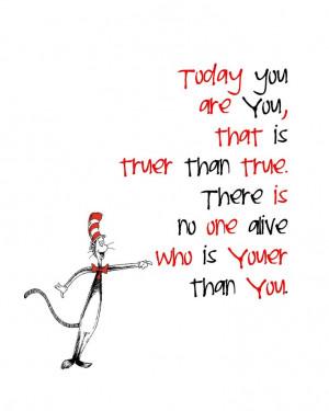 Dr. Seuss, inspirational quote