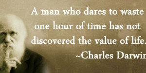 ... Wallpapers > Motivational Quote on Value By Charles Darwin
