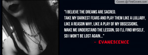 evanescence quote Profile Facebook Covers