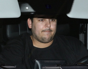 Reality star Rob Kardashian is spotted leaving the Gunnar Peterson Gym ...