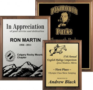 ... supporters? Plaques are the perfect award to recognize achievement