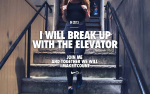 Runner Things #1321: I will break up with the elevator.