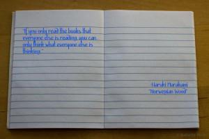 Tags: books , Haruki Murakami , Norwegian Wood , Quote Notebook
